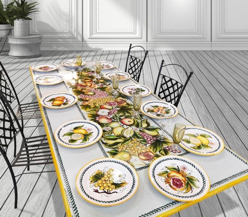 tavolo ficola decoro frutta