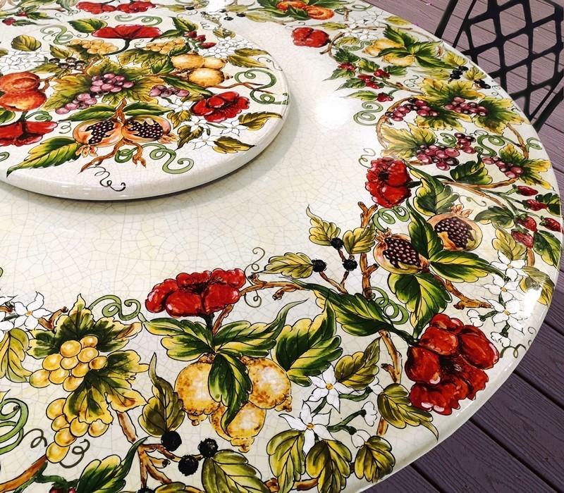tavolo ceramica ficola
