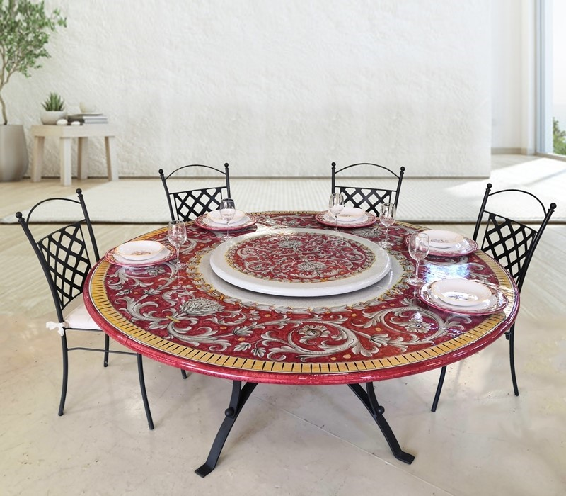 tavolo in ceramica decoro Sabrina