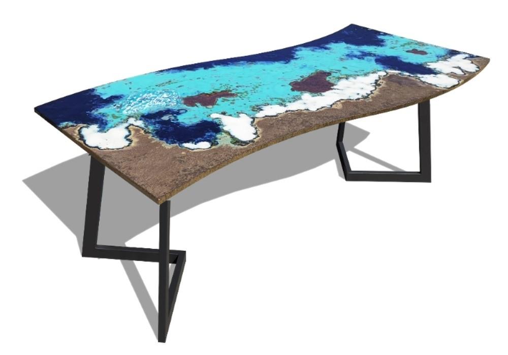 tavolo moderno in pietra lavica Ficola