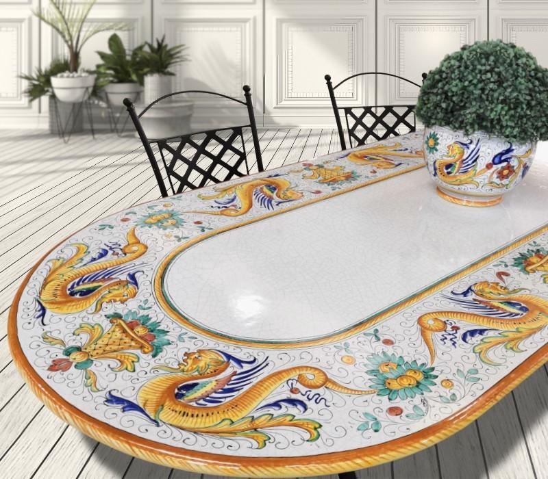 tavolo in ceramica classico Ficola