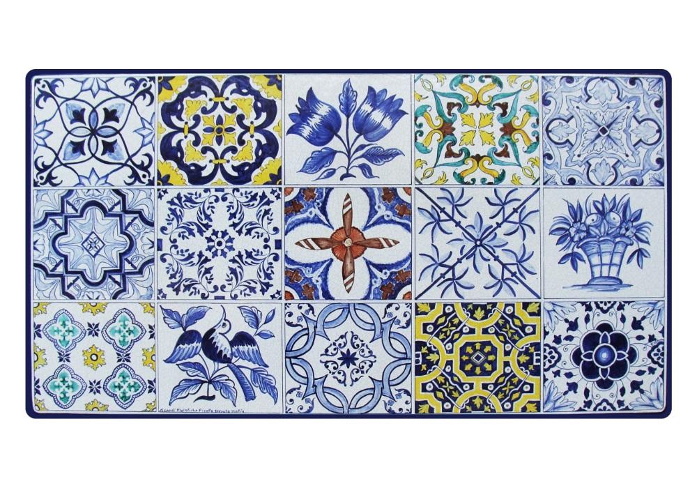 Tavoli Da Giardino Pietra Lavica.Decoro Azulejos Tavolo In Pietra Lavica Ceramizzata Grandi Maioliche